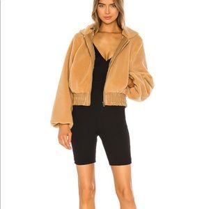 I.AM.GIA teddy cropped jacket coat in XS